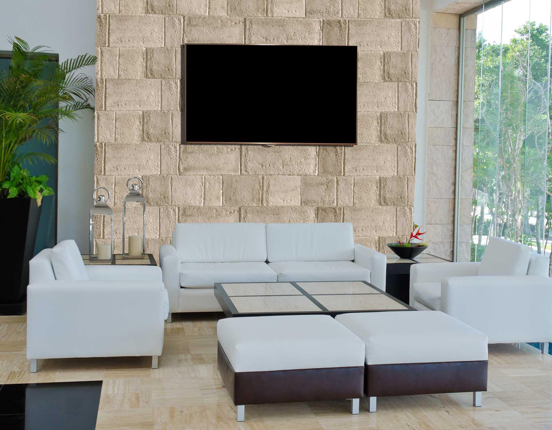 Muro muro pannelli effetto pietra